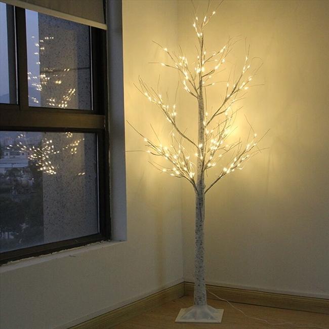 자작나무 자작나무트리 실내인테리어 LED조명/크기180cm, 자작나무색상