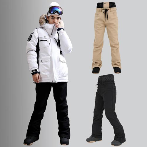FREELY 플레인 슬림핏 스키 보드 스판팬츠