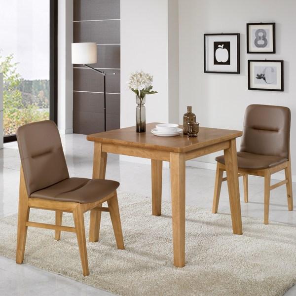 라로퍼니처 린디 원목 2인 식탁 세트 식탁세트, 린디 2인 식탁 세트(식탁1/의자2개)