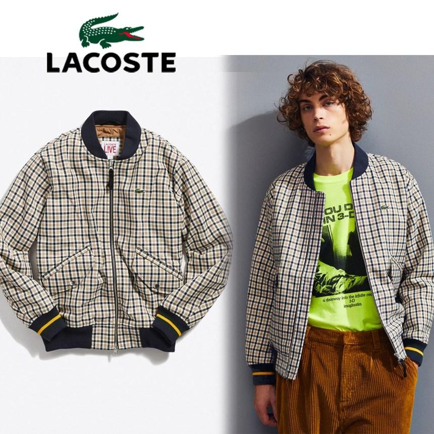 [해외] 미국정품 라코스테 Lacoste LIVE Wool Bomber Jacket 남자 울 야구밤버 자켓점퍼