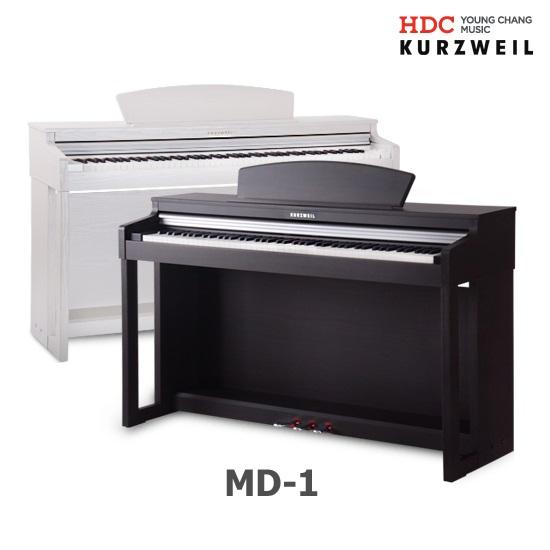 커즈와일 디지털피아노 MD-1 MD1 2020년형 업그레이드! 영창 전자피아노 256동시발음, 화이트