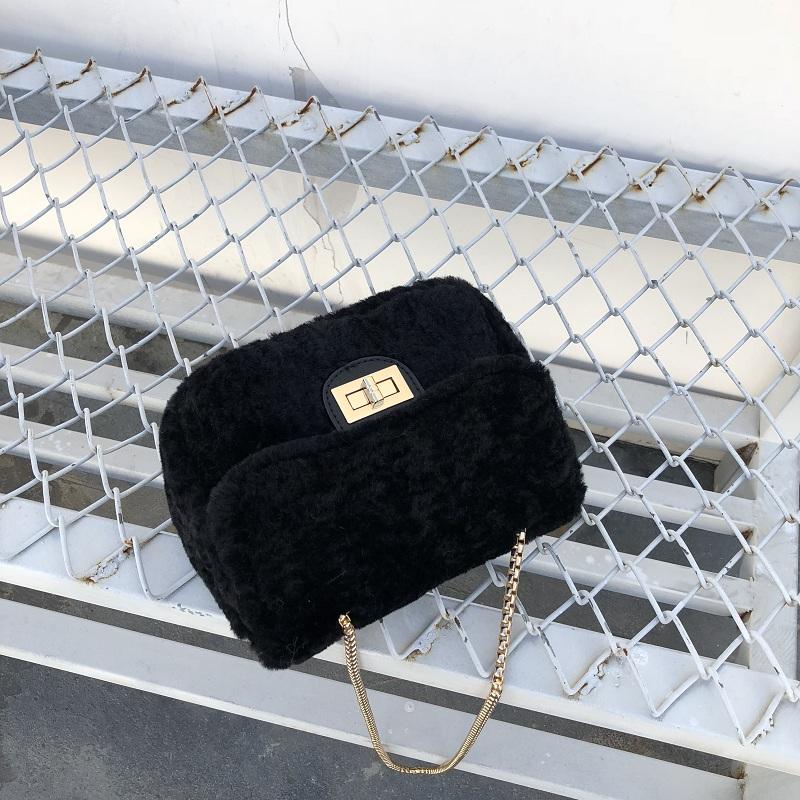 겨울 가방 소녀 작은 가방 야생 숄더백