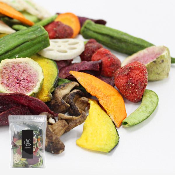 건어물진 동결건조 과일야채칩 10종 믹스(딸기 고구마 표고버섯 당근 등), 1개, 200g