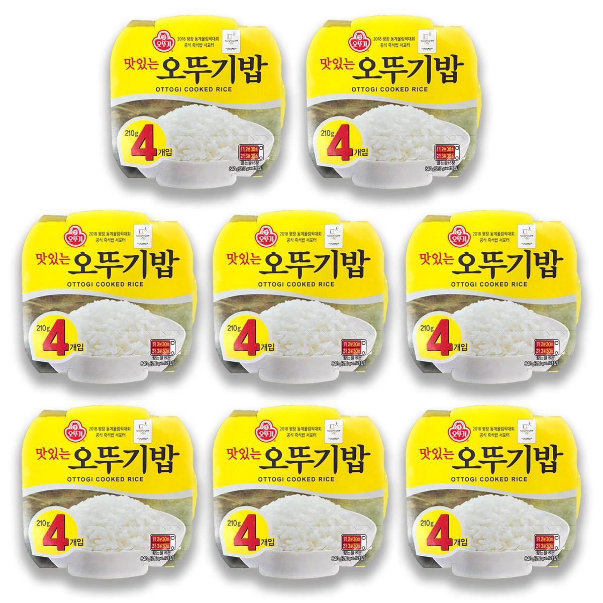 오뚜기 맛있는 오뚜기밥, 210g, 32개