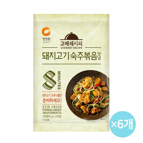 청정원 고메레시피 돼지고기숙주볶음 28gx6개, 28g, 6개