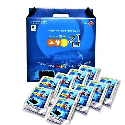 민속 고향김 3호 (10봉-1세트) 선물세트, 1박스