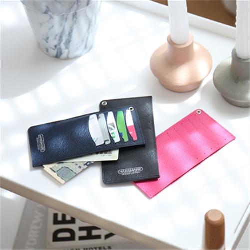 [아트박스 POOM/한스마레] 가죽 카드지갑 슬림 세컨드 카드 케이스 - 7color