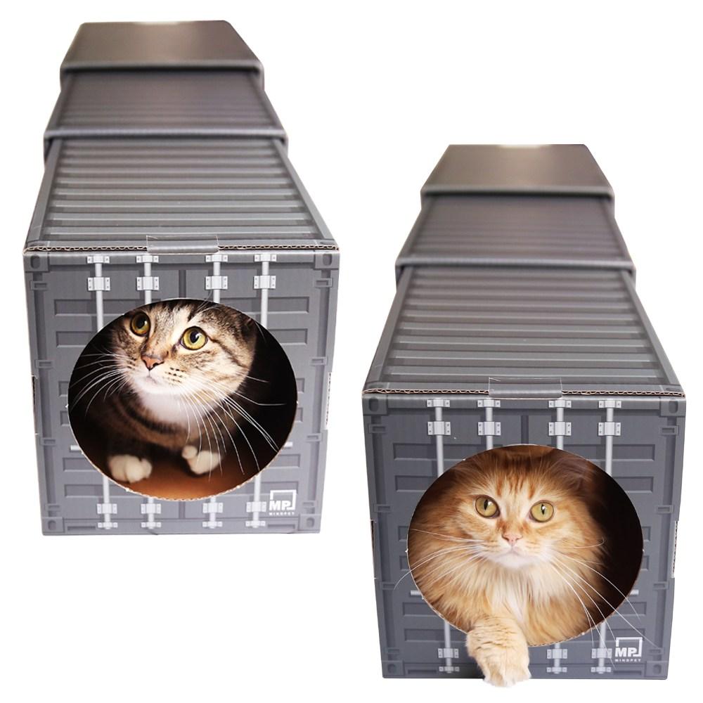 마인드펫 고양이 숨숨집 터널 3단 하우스, 단일색상.블랙