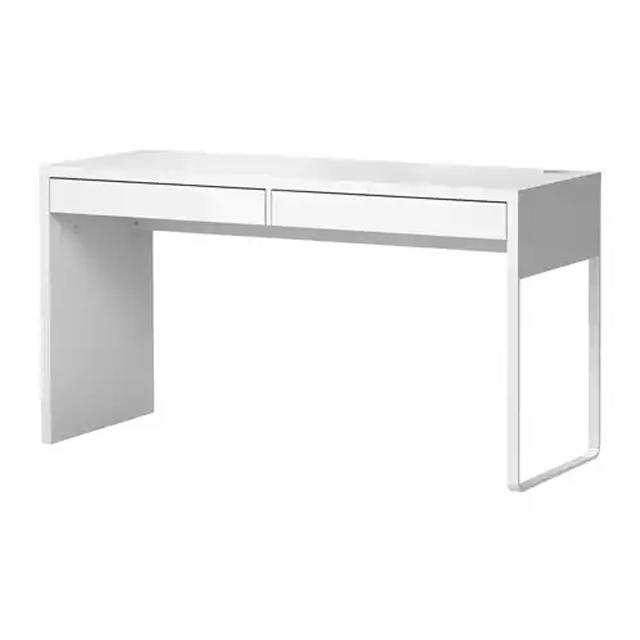 이케아 MICKE 일자형 긴 사무 컴퓨터 책상 142cm (142x50), 화이트 403.542.78