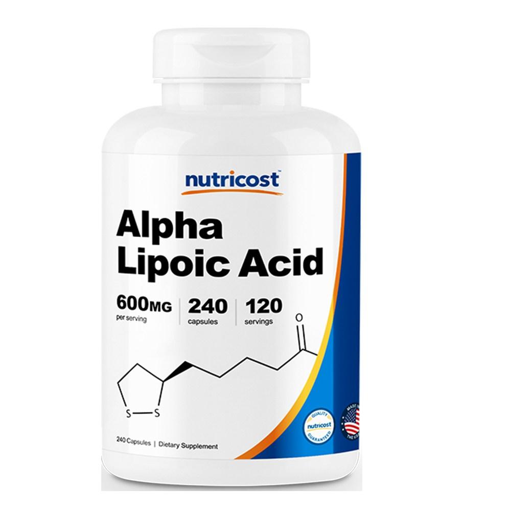 뉴트리코스트 알파리포산 600mg 캡슐 240캡슐 1서빙 600mg 120회분 Alpha Lipoic Acid Capsules