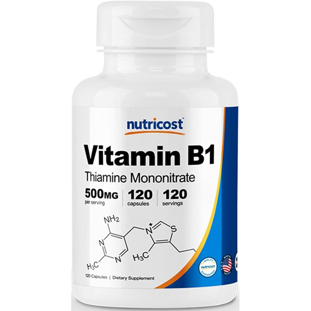 뉴트리코스트 비타민 B1 500mg 캡슐 120캡슐 1서빙 500mg 120회분 Vitamin B1 Capsules [500 MG] [120 CAPS]