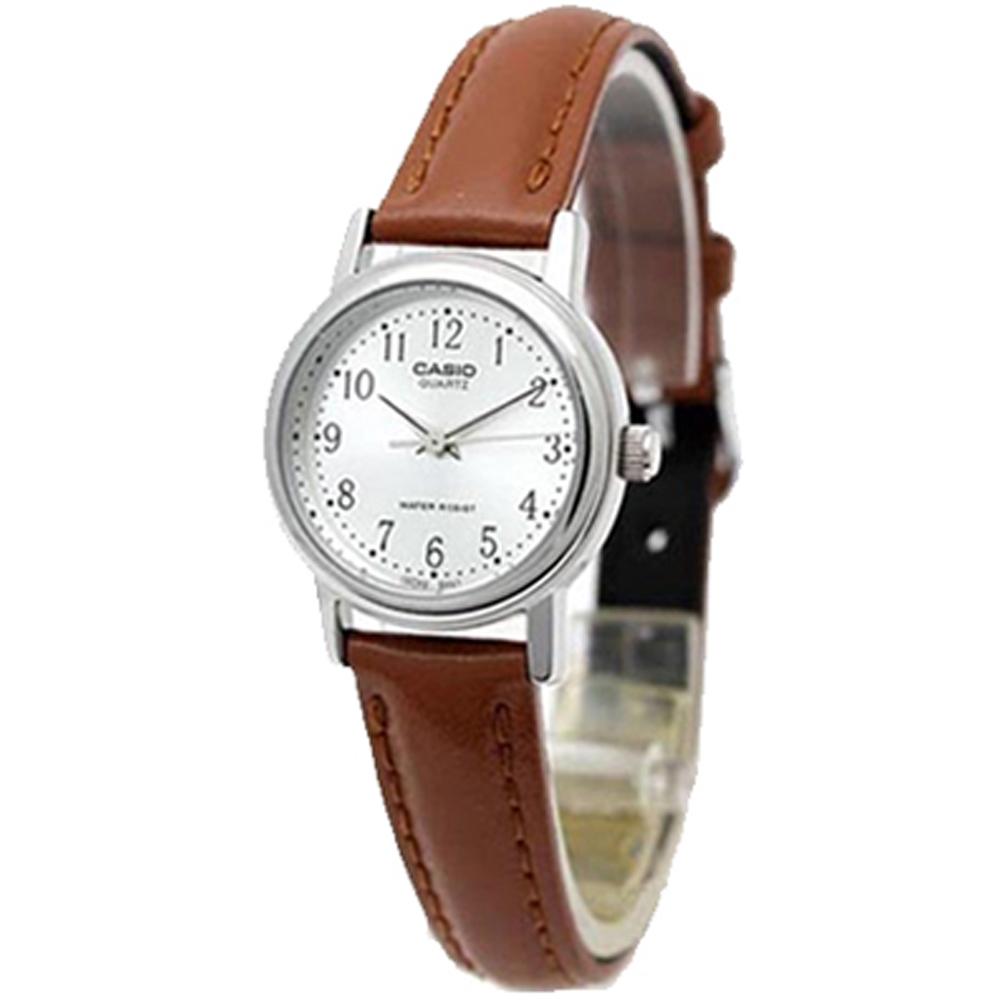 카시오 LTP-1095E-7B 전자 손목시계 여성 가죽 학생수능 패션 정장