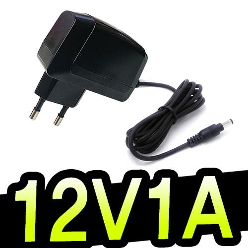 명호전자 DC 12V 0.5A~10A 아답터 모음 500ma 1A 1.5A 2A 3A 3.5A 4A 5A 6A 7A 8A 10A 12A 직류전원장치 파워 전원, 05. 12V1A벽걸이형(검정)