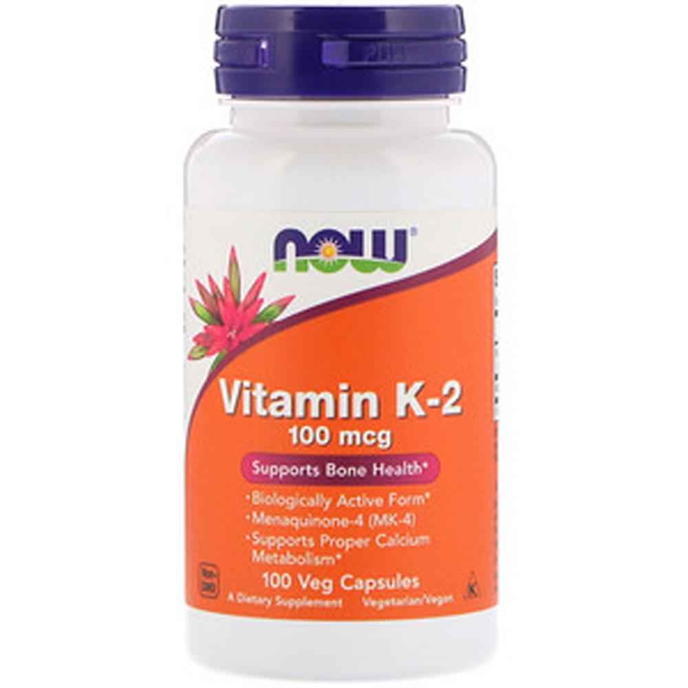 Now Foods 비타민 K-2 100mcg 베지 캡슐, 100개입, 1개