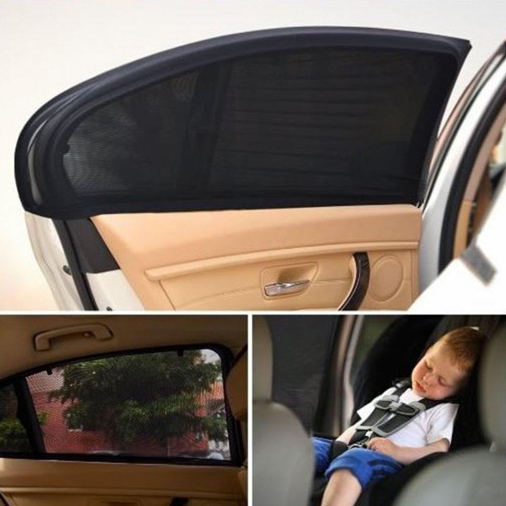 자동차 차량용 햇빛가리개 방충망 모기장 2P 세트, L