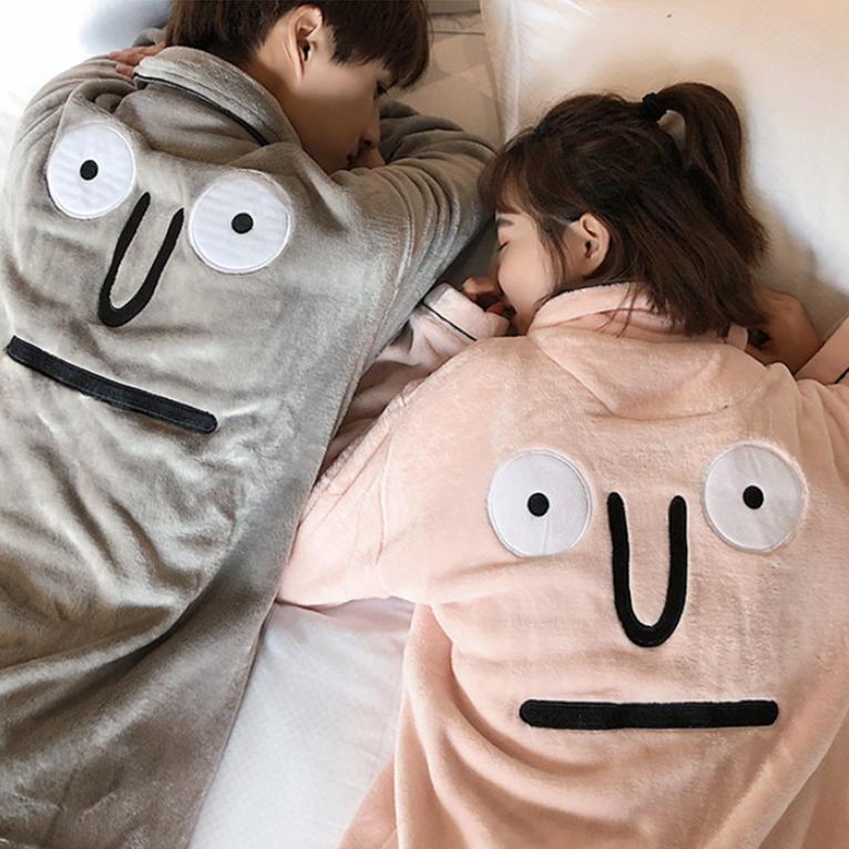해피데이333 겨울 커플 잠옷 수면 파자마 세트
