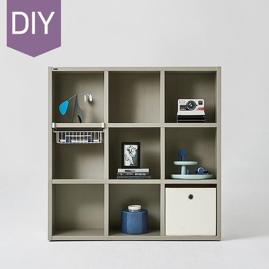 한샘 샘 어린이 책장 3단 120cm DIY, 색상:크림화이트(B)