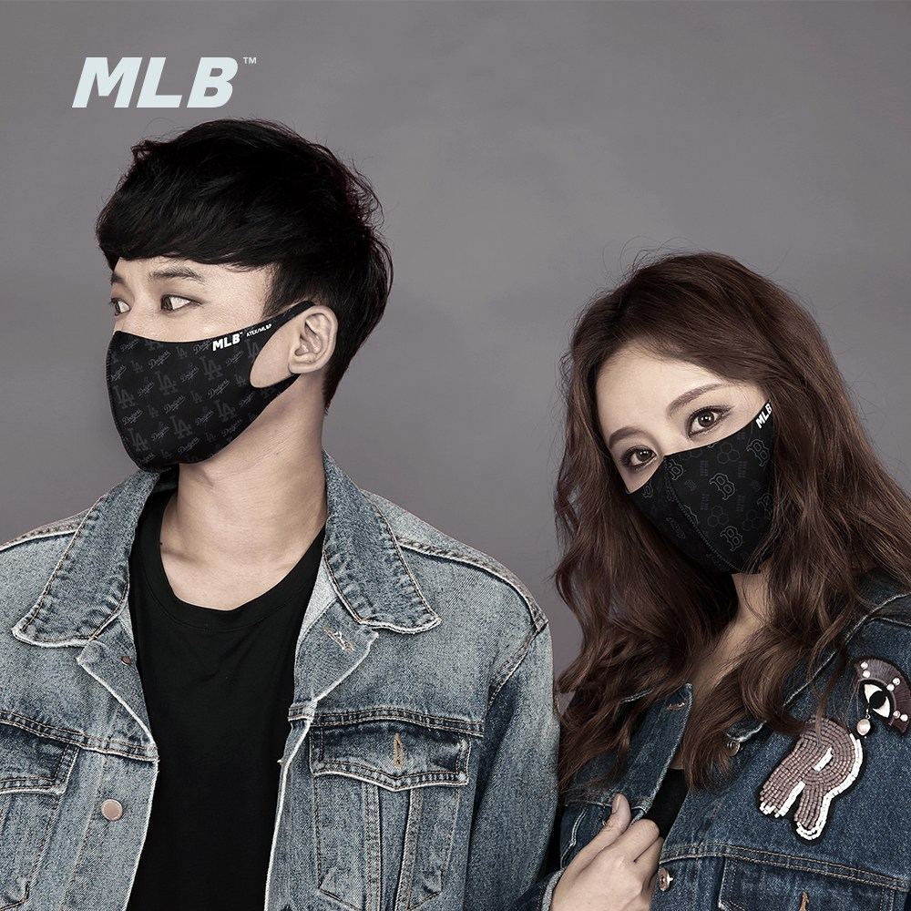 MLB 정품 연예인 공항패션 마스크