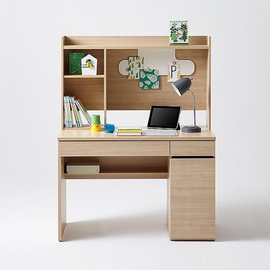 한샘 샘스마트 전면 책상 112.5cm (컬러 택1), 색상:메이플(B)