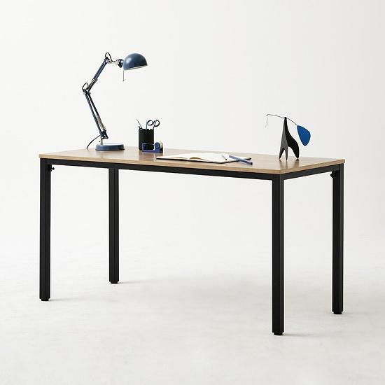 한샘 샘스틸 책상 DIY 140cm (컬러 택1), 색상:블랙오크(A)