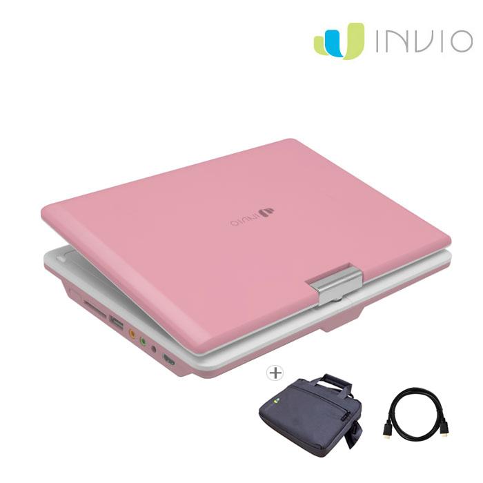 인비오 PD-2000HD세트상품 휴대용 CD DVD플레이어, PD-2000HD 핑크 세트