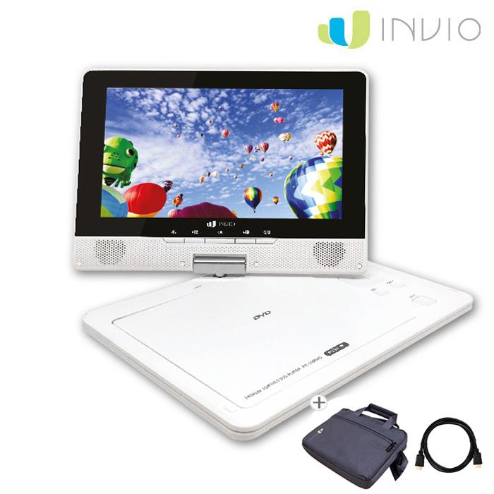 인비오 PD-2000HD세트상품 휴대용 CD DVD플레이어, PD-2000HD 화이트 세트