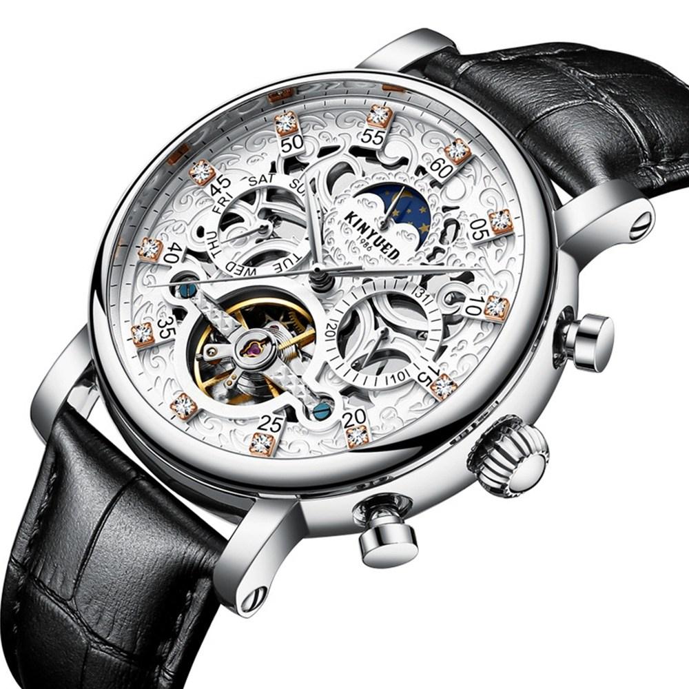 BOYZHE 남자시계 남성시계 손목시계 명품시계 오토매틱 스켈레톤 시계 BABAZON J026