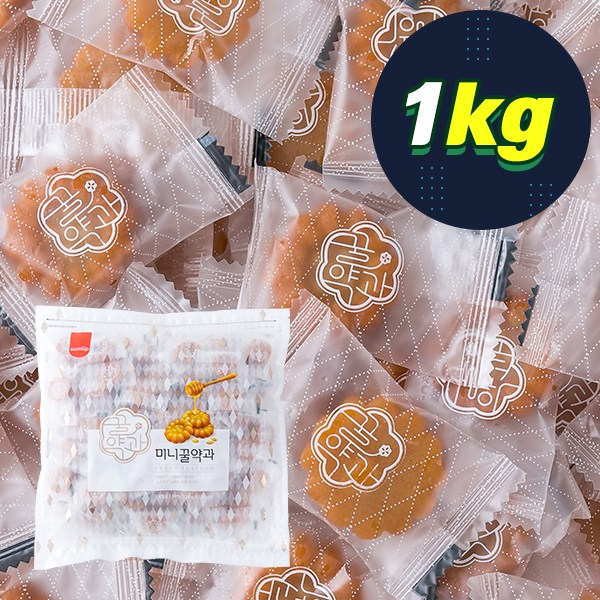삼립 미니꿀약과 1kg 대용량과자 약과담백가게, 14HT_삼립 미니꿀약과 1kg
