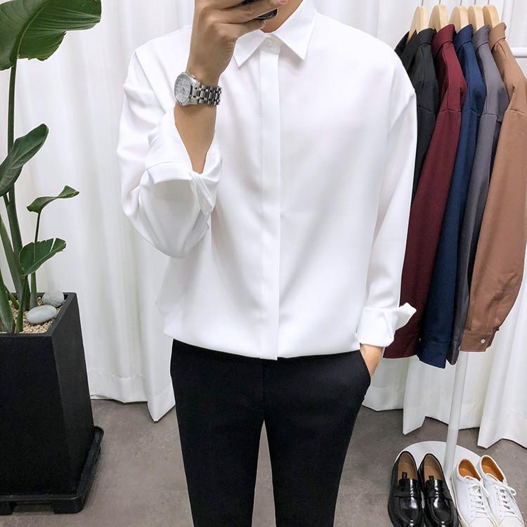 애드매이브 남성용 오버핏 리얼히든셔츠