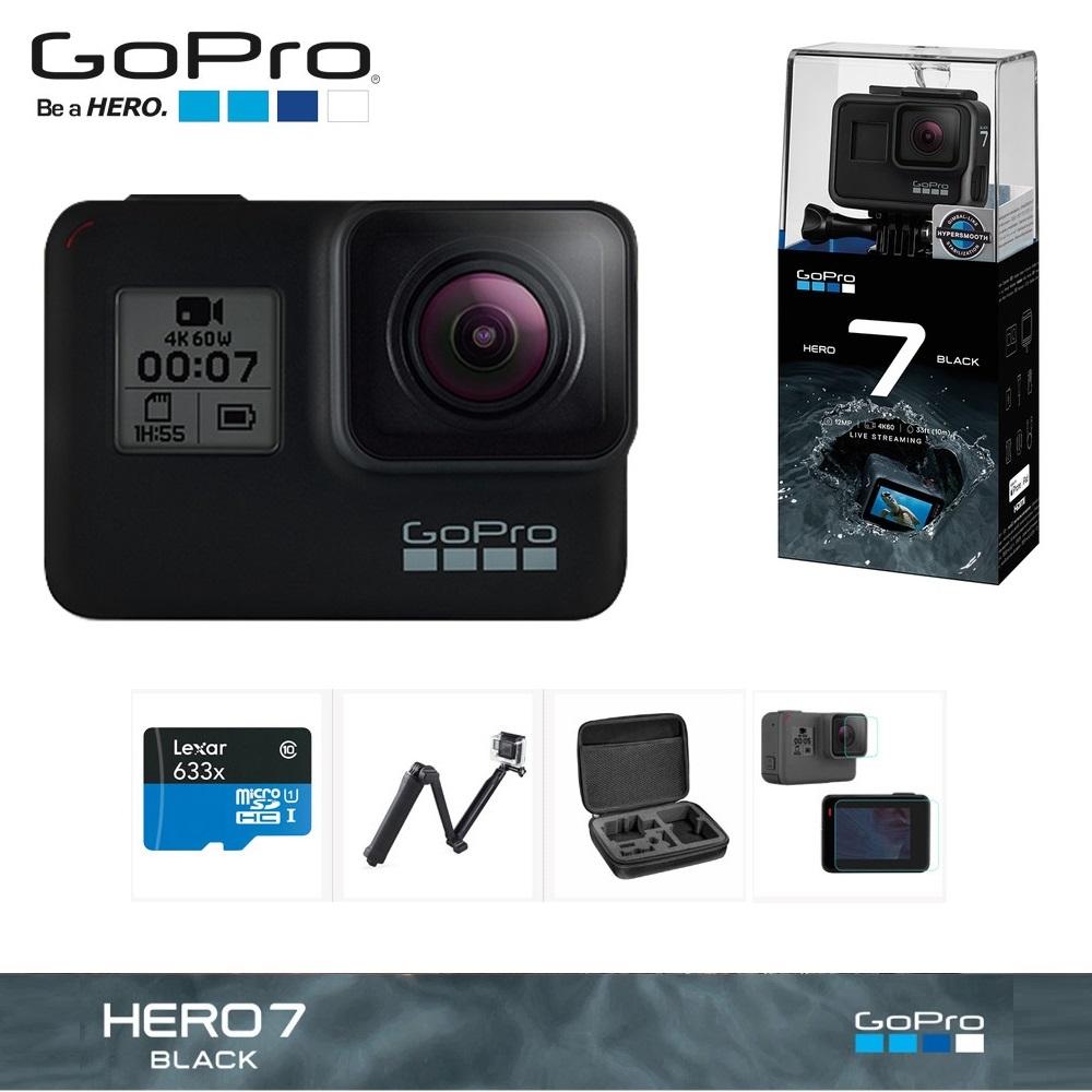 고프로 HERO7 BLACK 32GB+4종 호환 악세서리 패키지 액션캠, 고프로 HERO7 BLACK 32GB+호환 악세서리 패키지