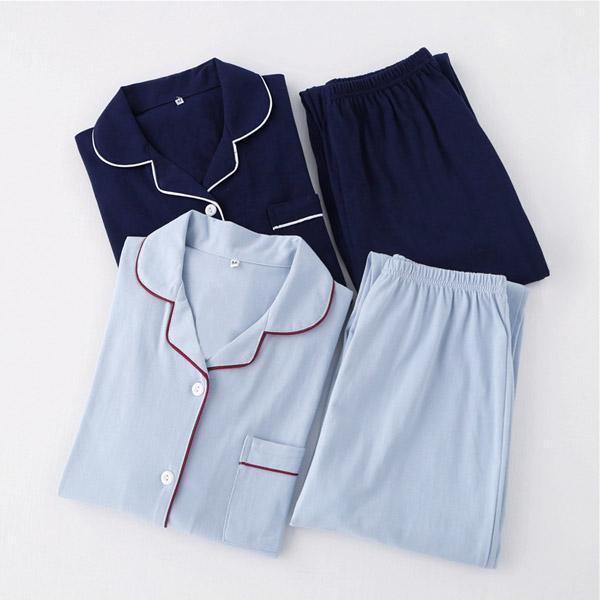 브리이에 클래식순면잠옷세트 홈웨어 커플잠옷 면 사계절 파자마 이지웨어