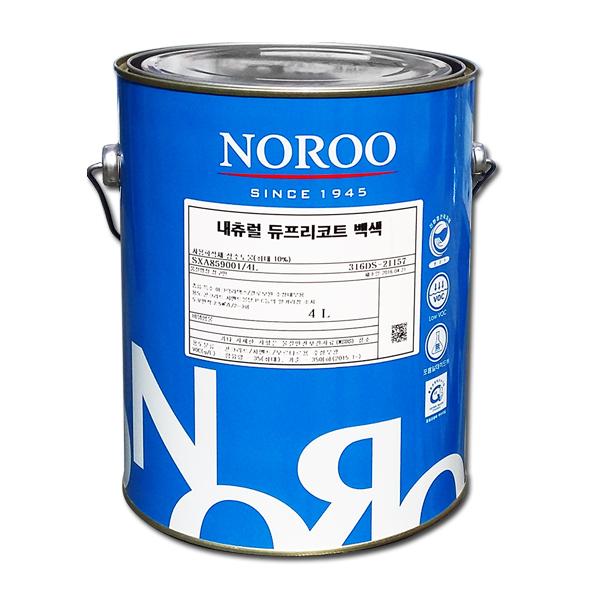 노루페인트 결로방지 수성페인트 듀프리코트 4L 무광, 화이트