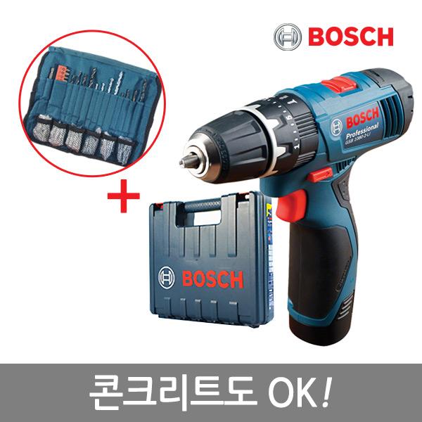[보쉬]10.8V 리튬충전전동드릴 GSB 1080-2LI(1B)/콘크리트OK!/액세사리100P포함, 상세 설명 참조