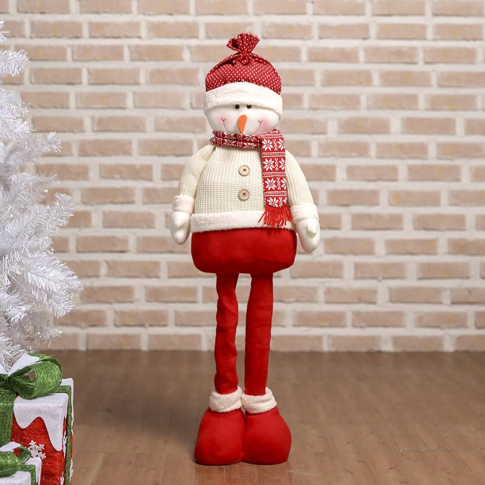 100cm 롱다리 눈사람 인형 크리스마스장식 인테리어, 단일 색상