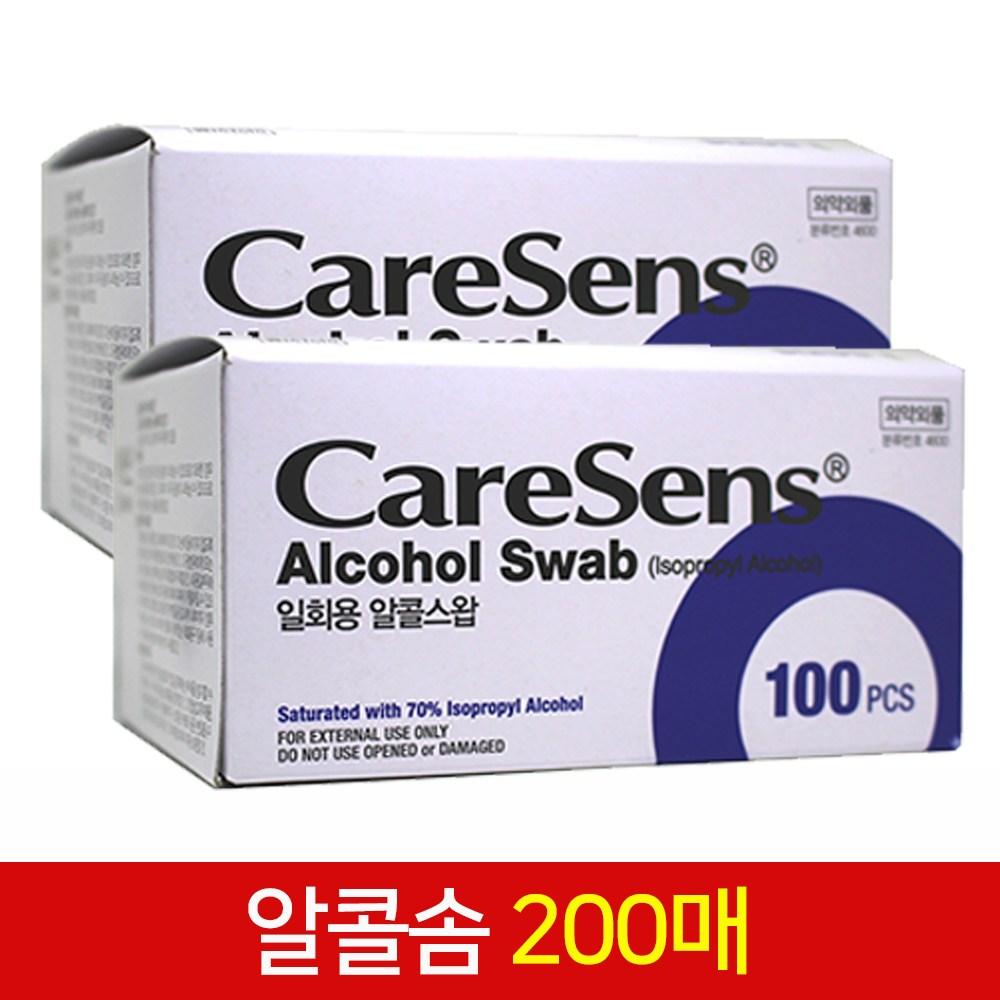케어센스 알콜솜 알콜스왑 200매, 1개