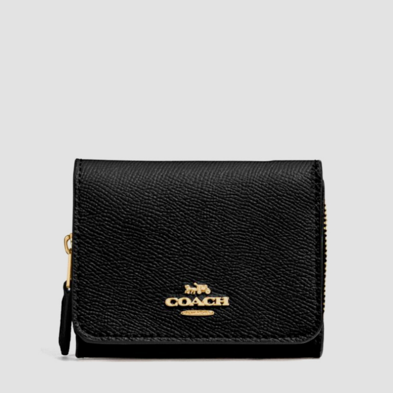코치 [HAPPYNY] COACH_ 37968 SMALL TRIFOLD WALLET (BLACK)