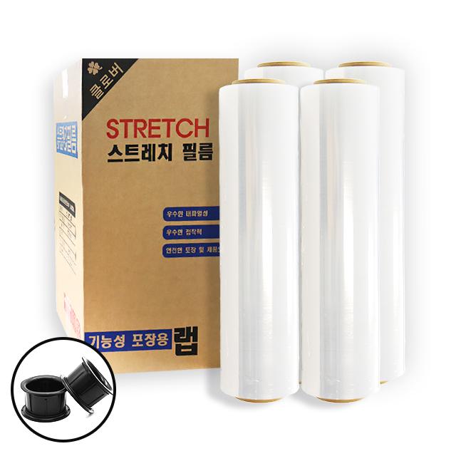 다모아MRO 스트레치필름 공업용 포장용 고기능랩(10mic 4롤), 1box