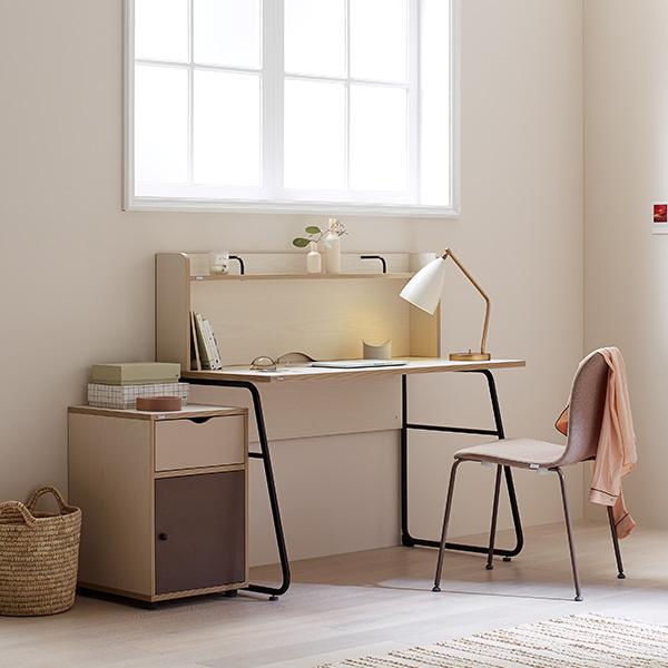 일룸 노마 높은 선반형 책상, 핀란드아이보리+초롤릿다리_FIVCHO
