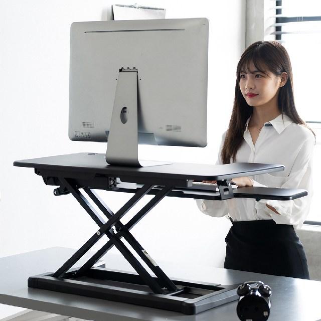 스파인데스크Y7 서서일하는 전동 스탠딩 책상, 블랙