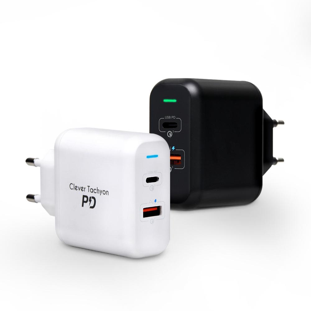 클레버타키온 USB PD 퀵차지3.0 고속멀티충전기 CTM-06M 유선멀티충전기, Mini 블랙