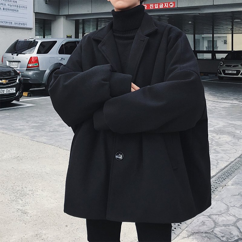 브엘세바 남성 오버핏 코트 간절기 데일리 유행 남자친구 필수