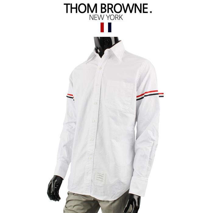 톰브라운 남성 암밴드 셔츠 MWL150E 00139 100 BIANCO