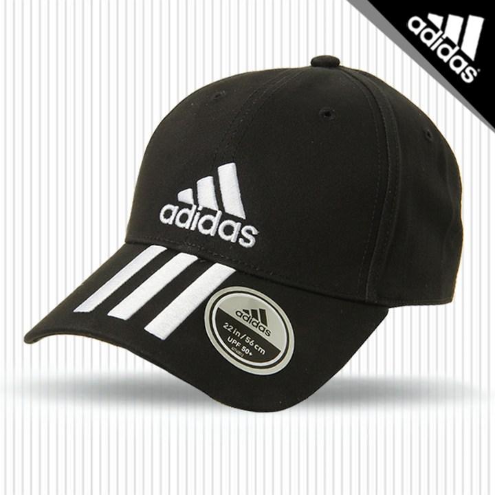 아디다스 6P삼선 코튼볼캡 모자(DU0196) 블랙