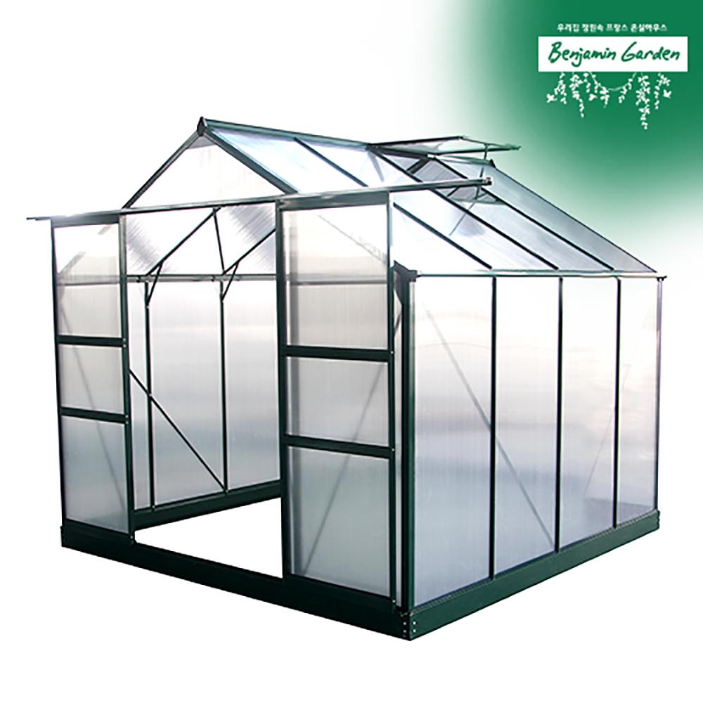 벤자민가든 조립식온실하우스 BASIC M 8X8 2평형, 온실단품+무료배송 (POP 178613007)