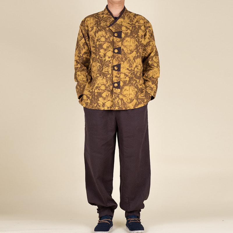 다오네우리옷 남자세트-다원 나염 이중지 2ps 생활한복(개량한복)