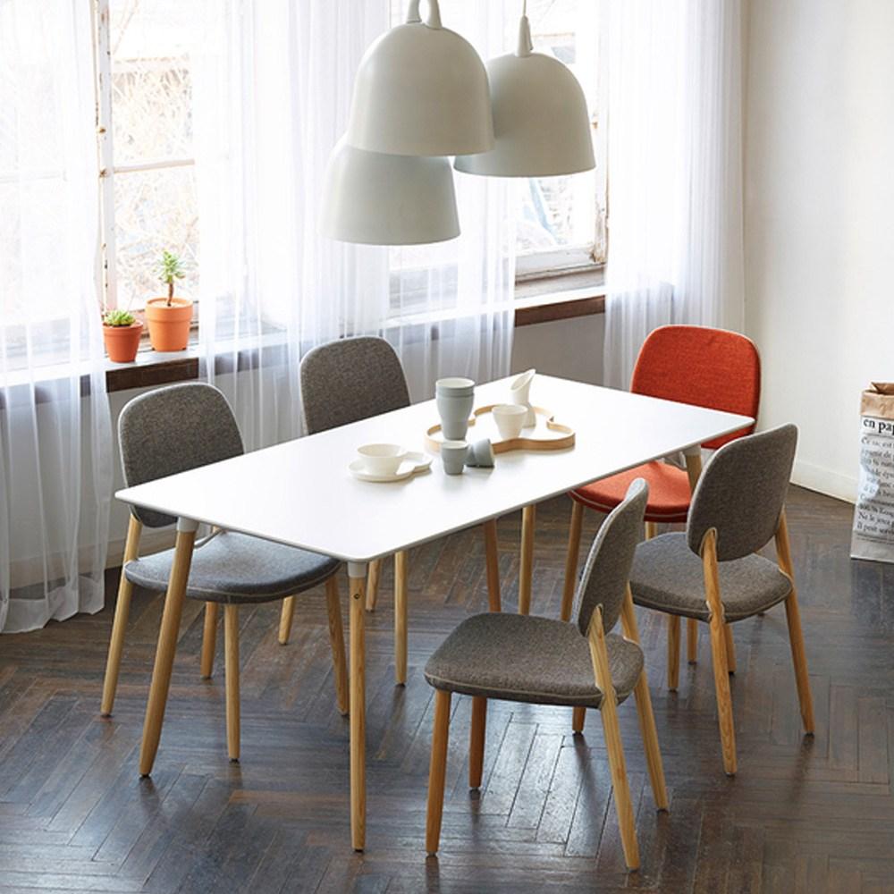 일룸 비비체어 식탁의자, 인조가죽:파우더+애쉬우드
