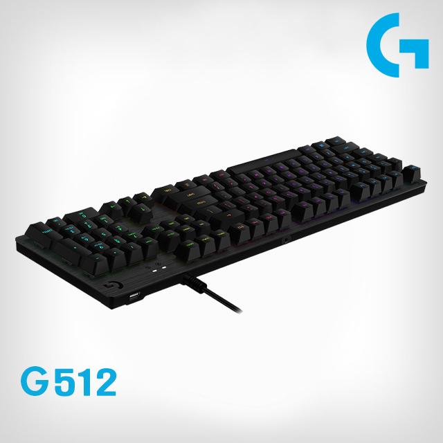 로지텍 G512 RGB 게이밍 키보드 병행수입 유선키보드, CLICKY(영문자판)