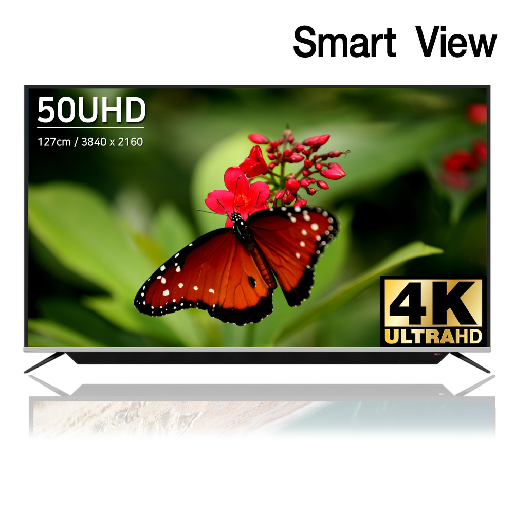 스마트뷰 J50SB 4K UHD TV 사운드바 내장, 스탠드형 (택배발송)