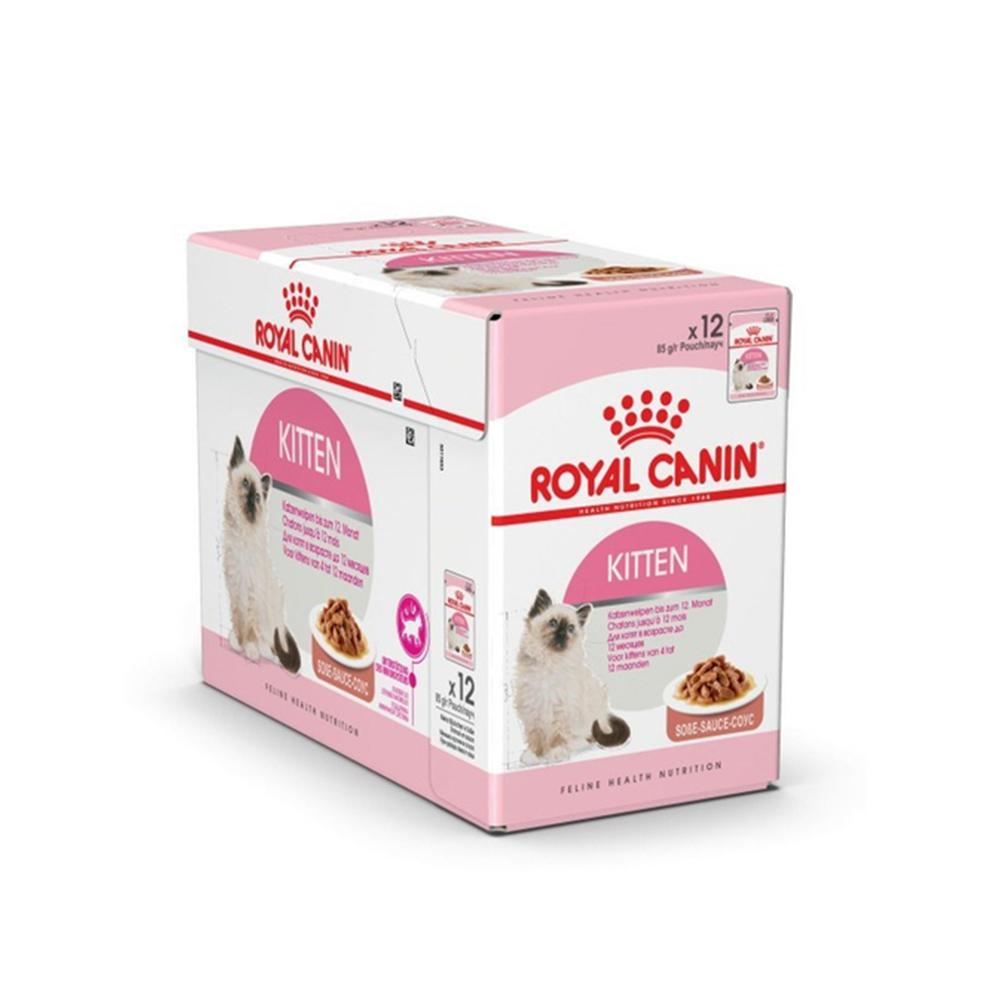 로얄캐닌 - 고양이 습식사료 _ 키튼 1box (85g x12개) 주식파우치