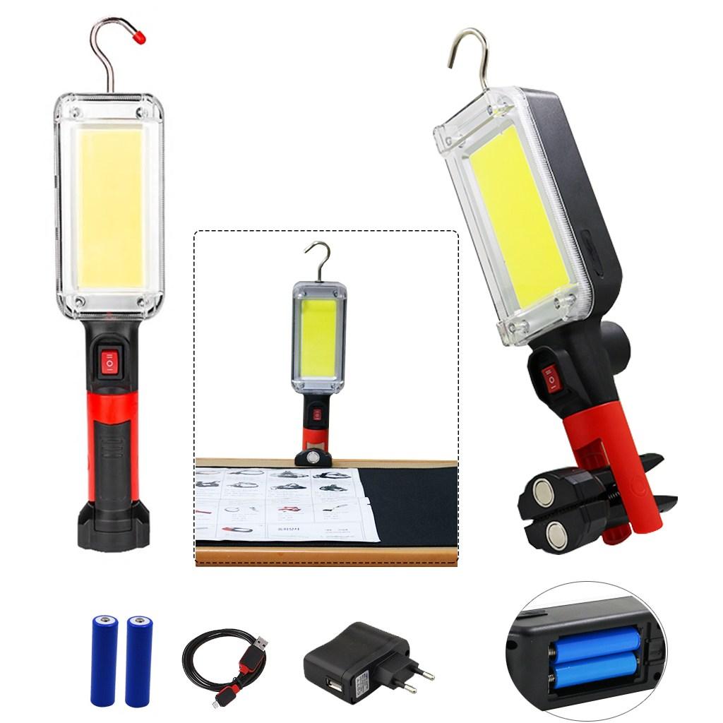 LED 다용도 멀티 랜턴 작업등 손전등 집게추가 뉴 COB, COB충전식걸이등(아답터포함)랜덤, 1개